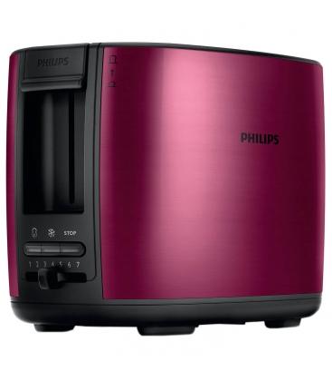 Prajitor de paine Philips HD2628/20, Putere 950 W, Capacitate 2 felii, Inox