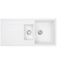Chiuveta de bucatarie Siltal Sole Mediteraneo B99 White, Granit compozit, Dimensiuni 99 x 50 cm, Alb