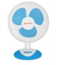 Ventilator de birou VORTEX VO4228, Putere 35 W, Diametru 30 cm, 3 trepte de viteza, Alb/Albastru