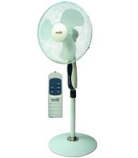 Ventilator cu picior Home SFP 40, Putere 45 W, Diametru 40 cm, 3 trepte de putere, Inaltime reglabila, Telecomanda, Alb