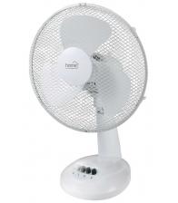 Ventilator de masa Home TF 23, Putere 21 W, Diagonala pale 23 cm, 2 trepte de putere, Alb