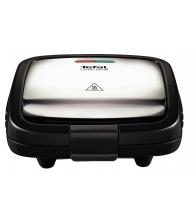 Sandwich Maker Tefal Croc Time SM193D34, Putere 700 W, Placi antiaderente, Negru