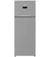 Frigider cu 2 usi Beko RDNE505E30ZXBN, Clasa F, Capacitate 455 l, NeoFrost™ Dual Cooling, Everfresh+®, H 185 cm, Argintiu