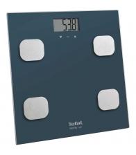 Cantar de baie Tefal Body Up BM2520V0, Greutate maxima 150 kg, Afisaj LCD, 8 memorii, ndice de masa corporala, Albastru