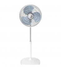 Ventilator de birou Rowenta Essential+ VU2310F0, Putere 28 W, Diametru 25 cm, 2 trepte de viteza, Alb