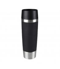 Termos Tefal Travel Mug K3080114, Capacitate 0.36 l, Capac 360 Quick Press, Cromat
