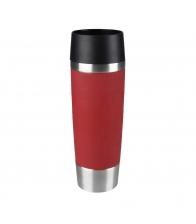 Termos Tefal Travel Mug K3081214, Capacitate 0.5 l, Capac 360 Quick Press, Negru