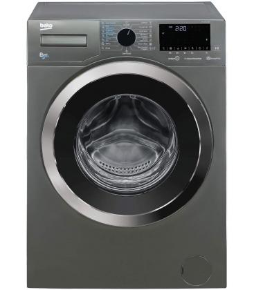 Masina de spalat rufe cu uscator Beko HTV8736XC0M, Clasa C, 8Kg Spalare, 5Kg Uscare, 1400 rpm, HomeWhiz, SteamCure, Gri