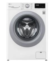 Masina de spalat rufe LG F2WN2S6N4E, Slim, Clasa E, Capacitate 6.5 Kg, 1200 rpm, AI Direct Drive, SmartDiagnosis™, Alb