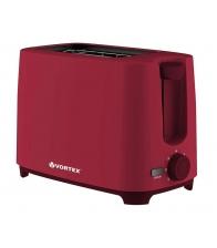 Prajitor de paine Vortex VO4008RD, Putere 700 W, 2 felii, 6 niveluri de putere, Rosu