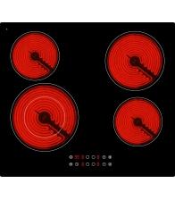 Plita incorporabila vitroceramica Arielli ACH-644T, Electric, 4 zone de caldura, Control touch, Negru
