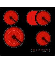 Plita incorporabila vitroceramica Arielli ACH-664T, Electric, 4 zone de caldura, Control touch, Negru