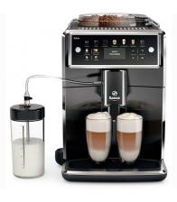 Espressor automat Philips Saeco Xelsis SM7580/00, Latteduo, 12 selectii, Rasnita ceramica, AquaClean, Afisaj LCD, Negru