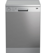 Masina de spalat vase Beko DFN05321X, Clasa E, Capacitate 13 seturi, 5 programe, Argintiu