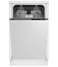 Masina de spalat vase incorporabila Beko DIS28122, Clasa E, Capacitate 11 seturi, 8 programe, Motor ProSmart Inverter, Alb