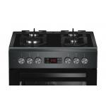 Aragaz Beko FSM65330DAS, 4 arzatoare, Aprindere electrica, Cuptor electric, 8 functii, Grill, Antracit