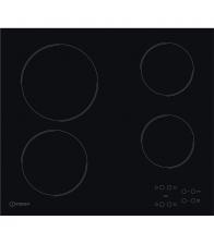Plita incorporabila Indesit Aria RI 161 C, Vitroceramica, Putere 6200 W, 4 zone de gatit, Control Touch, 58 cm, Negru