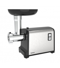 Masina de tocat Vortex VO4023, Putere 2100 W, Capacitate 1.2 Kg/min, 3 site inox, Reverse, Accesoriu suc de rosii, Argintiu