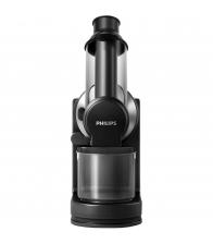 Storcator de fructe cu presare la rece Philips HR1889/70, Putere 150 W, Recipient pulpa 0.75 l, Tub XL, QuickClean, Negru