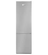 Combina frigorifica LDK Boreal DDS400IHLF, Clasa F, Capacitate 378 l, Termostat ajustabil, H 201 cm, Argintiu