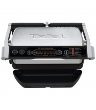 Grill electric Tefal OptiGrill+ GC706D34, Putere 2000 W, 6 programe, Dimensiune placi 30 x 20 cm, Placi detasabile, Negru/Inox