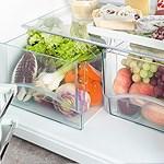 Transparent vegetable bins